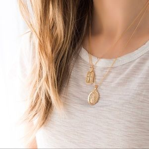 11thstreet Jewelry - Gold Virgin Mary Pendant Necklace